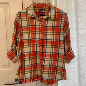 The North Face flannel button down shirt